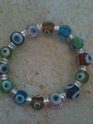 Evil-Eye Charm Bracelet-colored